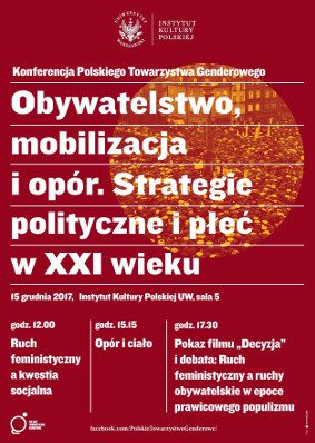 Obywatelstwo, mobilizacja i opór. Strategie polityczne i płeć w XXI wieku.