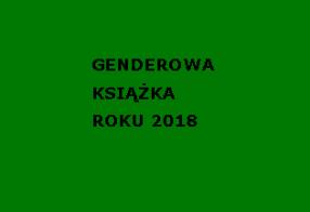 GENDEROWA KSIĄŻKA ROKU 2018